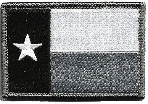 Texas Tactical Patch - Black & White