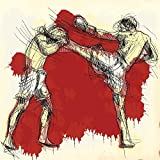 Pitaara Box PB Muay Thai Martial Art Kickboxing In Thailand Unframed Canvas Painting 16 x 16inch