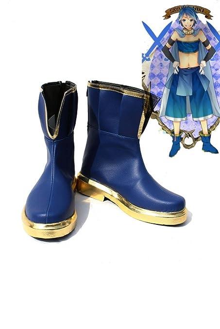 Puella Magi Madoka Magica Sayaka Miki Shoes Boots Custom Made Dark Blue