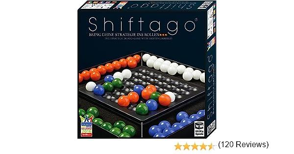 WiWa Spiele 790023 - SHIFTAGO - Lleva tu estrategia a la práctica... (juego juegos de mesa juegos de estrategia con 88 bolas de cristal (Ø 22 mm) de gran calidad para 2-4