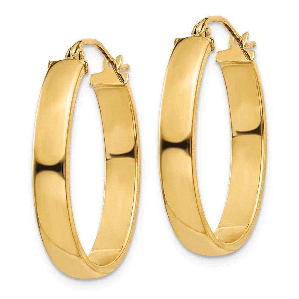 Mia Diamonds 14k Yellow Gold Lightweight Oval Hoop Earrings