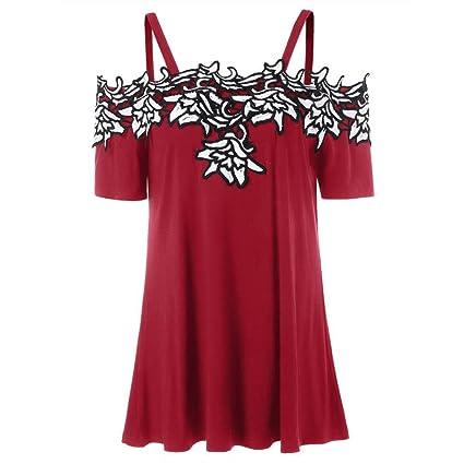 Camisetas mujer, Ba Zha Hei Camisetas Mujer Verano Blusa Mujer Elegante Camisetas Mujer Largas Manga