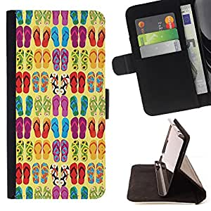 Jordan Colourful Shop - flops summer sun beach fashion design For Apple Iphone 5 / 5S - Leather Case Absorci???¡¯???€????€???????&bdq