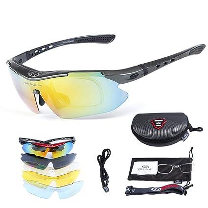 SH-Flying Gafas polarizadas, Lentes antirayos UV y Cortas, 5 ...