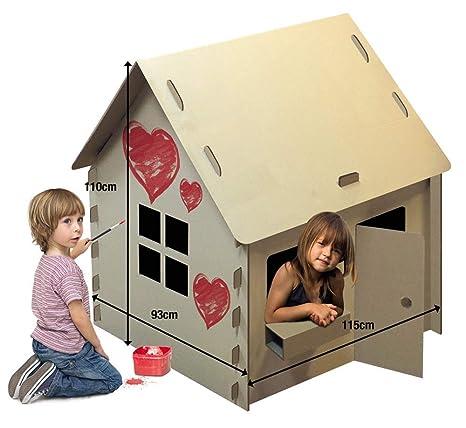 Casa Casetta Di Cartone Cm 115x93x110h Per Bambini Amazonit Casa