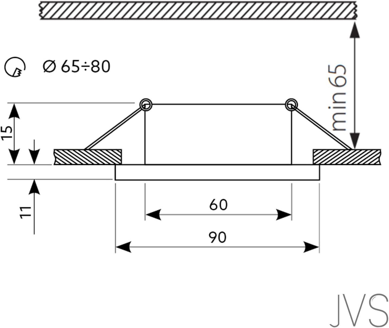 LED Einbaustrahler aus Glas/Spiegel/Schwarz Dimmbar CRISTAL Rund Inkl 10X 5W LED Warmweiss 230V IP20 LED Deckenstrahler Einbauleuchte Deckeneinbaustrahler Einbauspot Deckeneinbauleuchte 4er Set