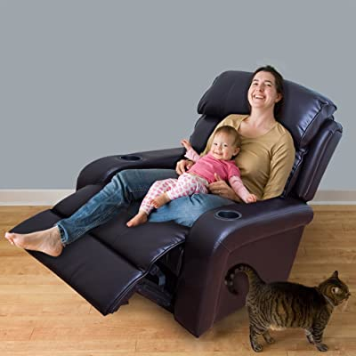 2016 Brand New Bonded Leather Power Recliner Dark Brown