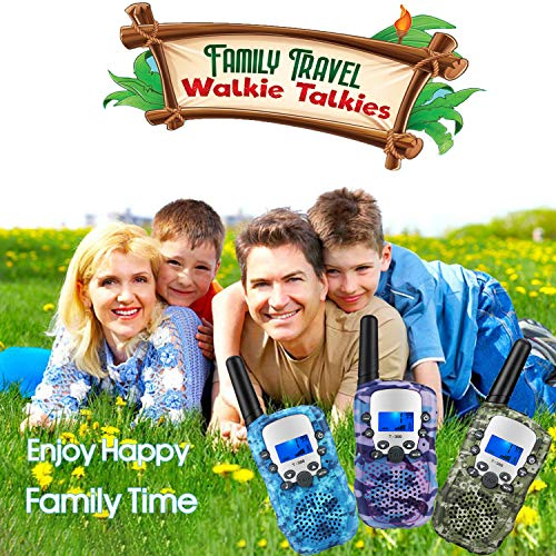 Topsung 3 Walkie Talkies for Kids Adults Rechargeable Walkie Talkie with Charger,Ideal Kids Toys for 3 4 5 6 7 8 9 10 11…