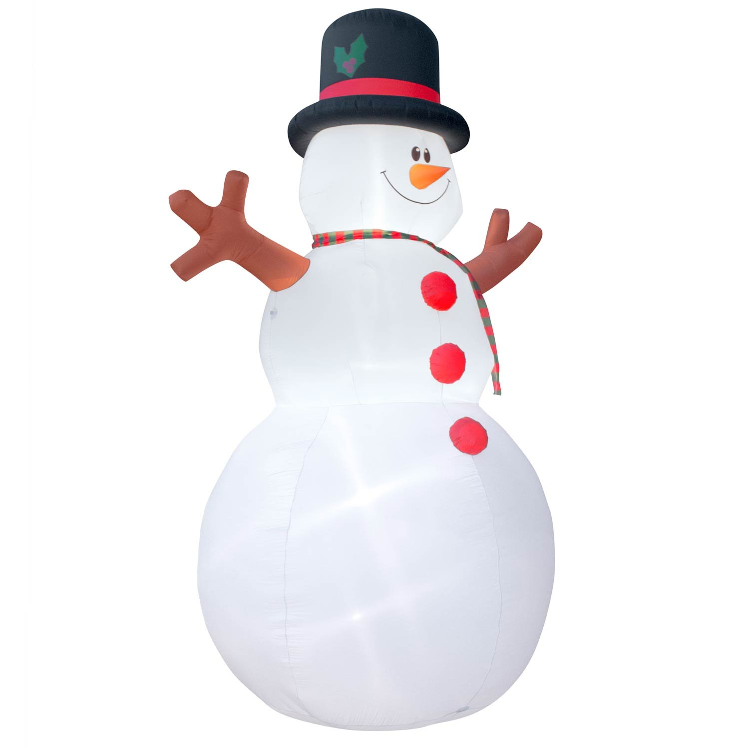 Holidayana Christmas Inflatable Giant 15 Ft. Snowman Inflatable Featuring Lighted Interior / Airblown Inflatable Christmas Decoration With Built In Fan And Anchor Ropes by Holidayana (Image #4)