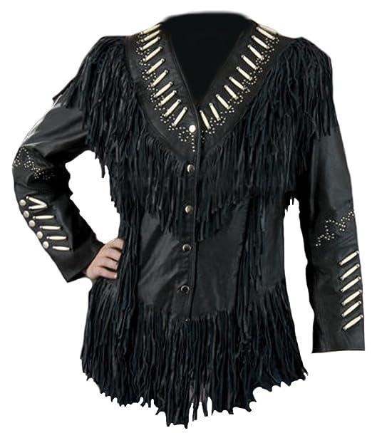 Sheep Sleekhides Para Abrigo Small X Amazon Negro Black Mujer pz1RxqWwAz