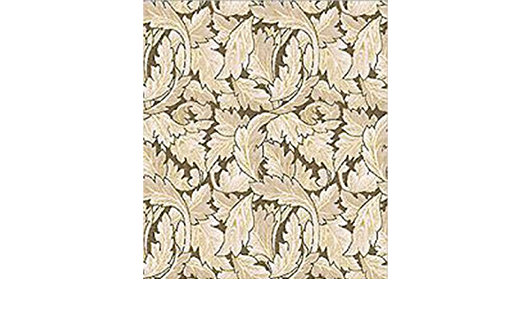 Victorian Leaves *SALE* Dollhouse Miniature 1:12 Wallpaper Brown Beige