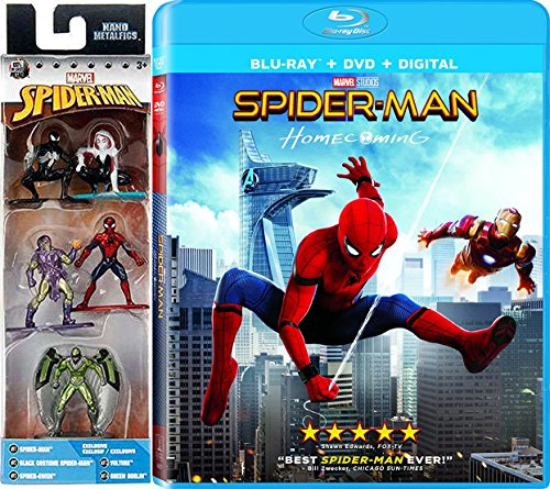 Stacy Comic Costume Gwen (Spider-Man Figure Collection Homecoming Pack Movie Blu Ray + DVD Marvel Super hero Gwen, Vulture & Green Goblin Nano Metalfigs)