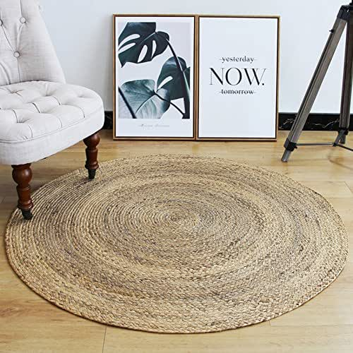 Amazon Com Custom Size Round Brown Woven Straw Floor Mats