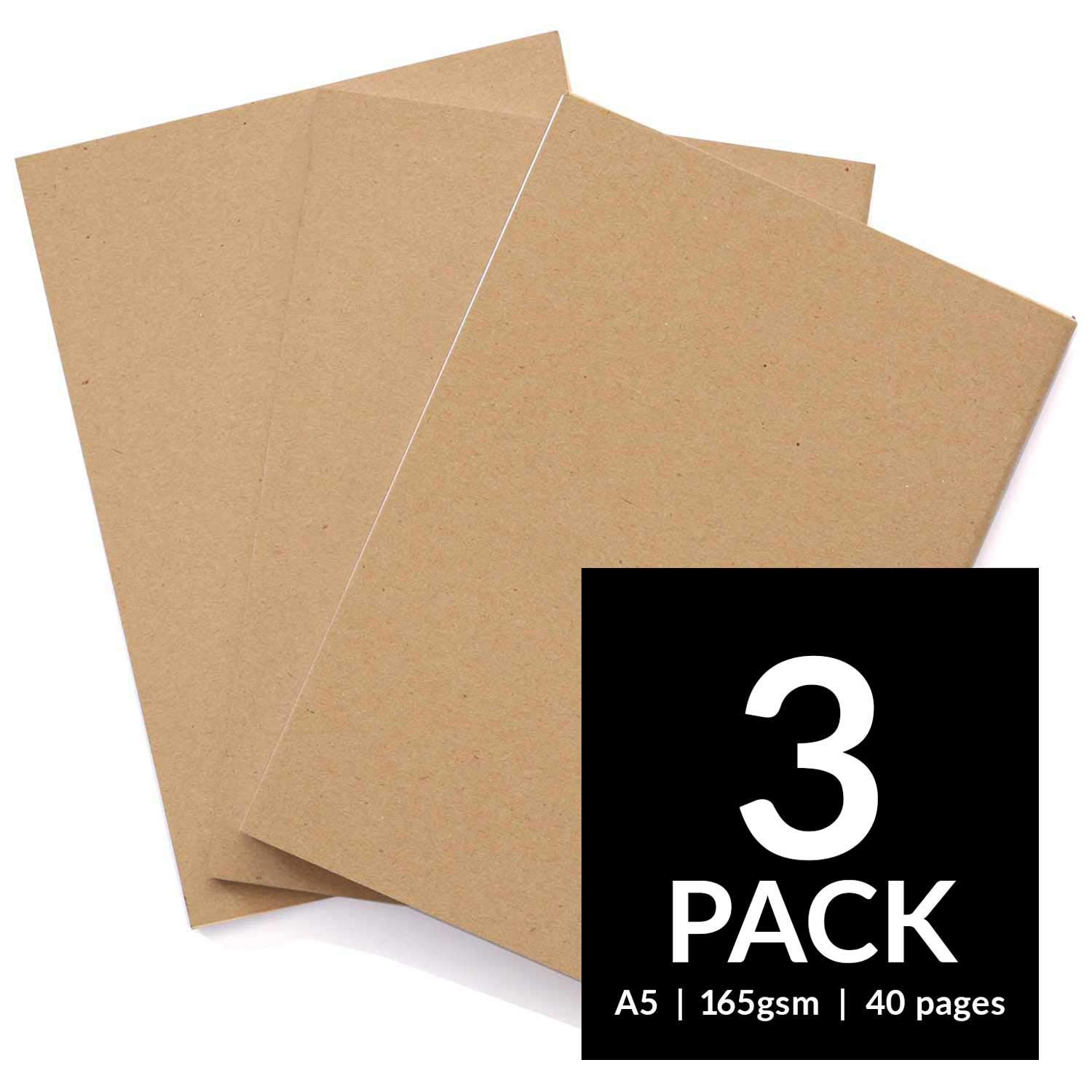 Sketchbooks - Soft Cover Starter Sketch Book and White 165 GSM Cartridge Paper Sketch Pad with Sizes A3 and A4 for Mixed Media Use (Pack of 2 - A3, Black) Artistik