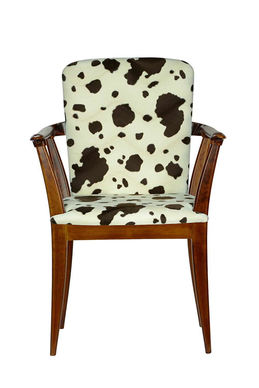 High Street Design Antique Oak Winsor Chair with Burgundy Fabric Cushion 2880