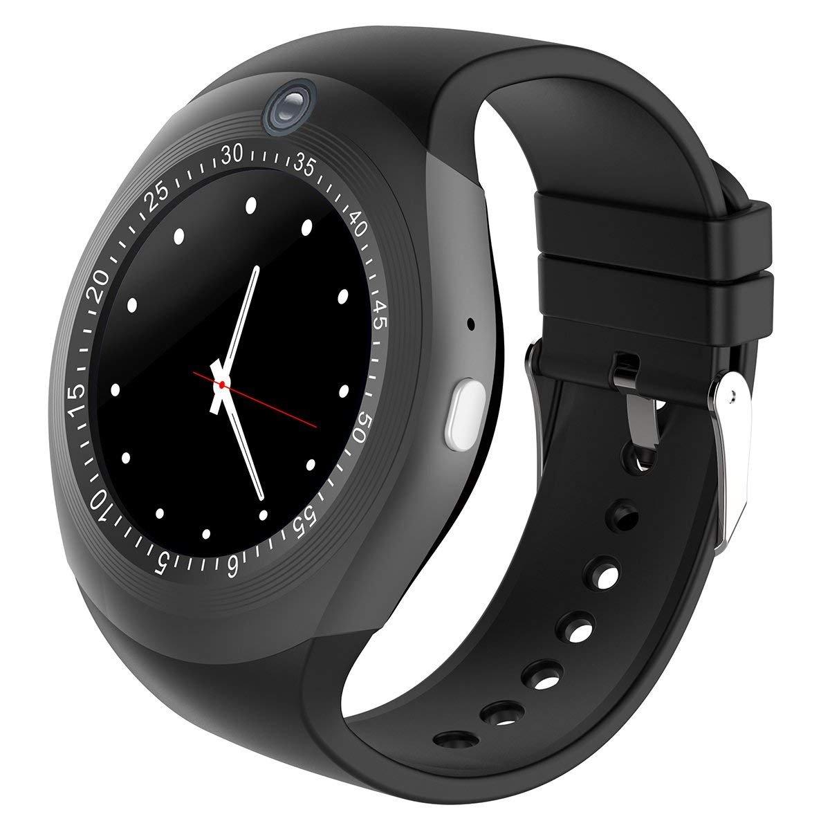 Bluetooth Smart Watch Reloj Inteligente Teléfono Inteligente Pantalla Táctil con Ranura para Tarjeta SIM/sedentario Recordatorio/Pedómetro para Android ...