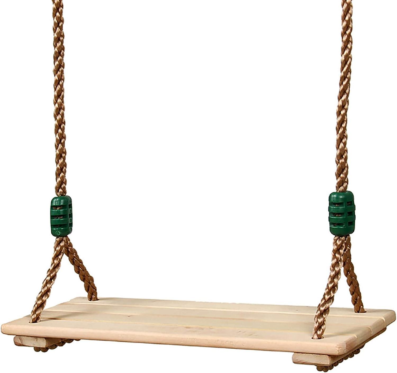 Sedile per Appendere Pastorale per Adulti Bambini Altalena in Legno anticorrosivo di Alta qualit/à con Corde Regolabili carico Massimo 150 kg Altalena in Legno
