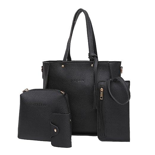 FDelinK Satchel Purses and Handbags for Women Shoulder Tote Bags Crossbody Wallets 4Pcs/Set (