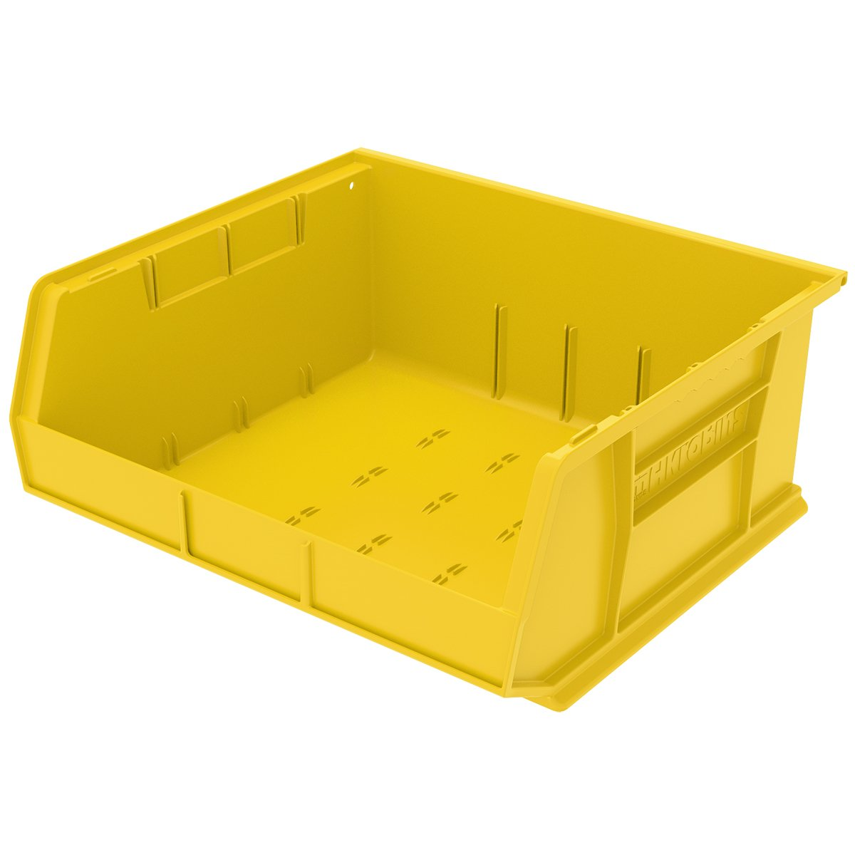 Akro-Mils 30250 Plastic Storage Stacking Hanging Akro Bin, 15-Inch by 16-Inch by 7-Inch, Yellow, Case of 6