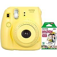 Câmera instantânea Fujifilm Instax Mini 8 - Amarela + Filme INSTAX_KIT3M