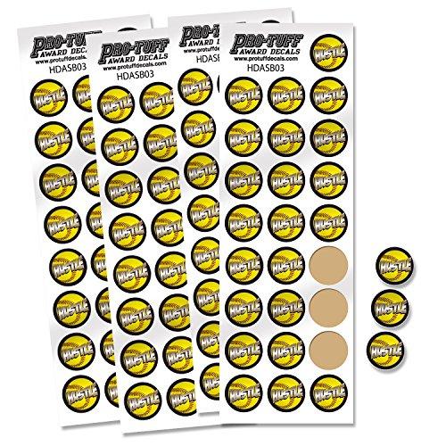 (Pro-Tuff Decals Award Decals for Softball, Softball Award Decals 100 Softball Award Stickers (Softball Hustle) HDASB03)