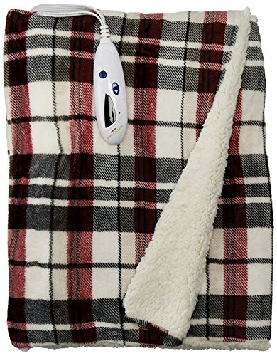 Biddeford 4493-9062183-744 Electric Heated Velour with Sherp