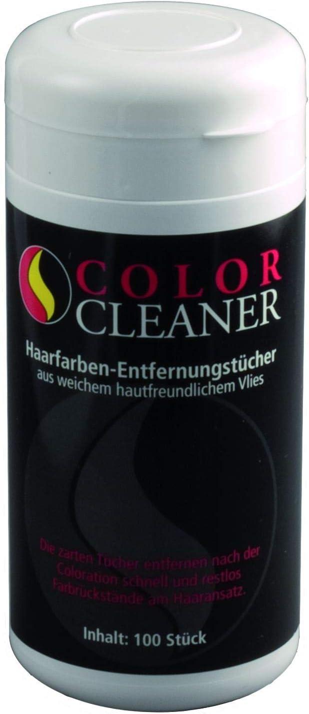 Coolike Color Cleaner - Toallitas quitamanchas para tinte de pelo en bote reutilizable (100 unidades, 20 x 14 cm)