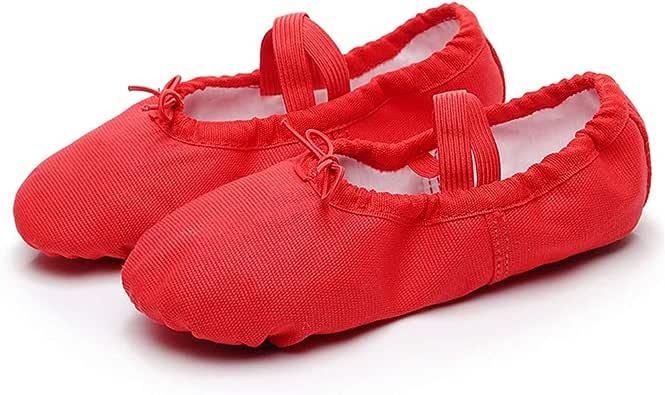 QHGao Kinderdoek hoofd dansschoenen, kat klauw schoenen, dansschoenen, yoga-schoenen, balletschoenen, die duurzamer zijn en voldoen aan de behoeften van verschillende voettypen
