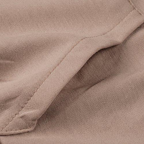 FANTIGO e a maniche lunghe cappuccio lunghe collo con Felpa con Pullover maniche alto Donna Cachi YXRqYwPr