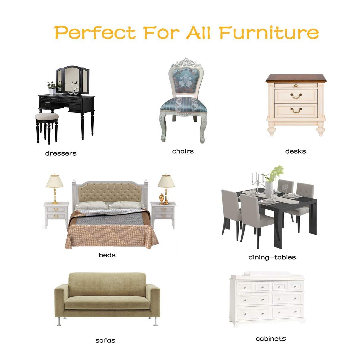 Lexsong Furniture Sliders (20 Piece), Reusable Felt Furniture Pads 3.5 inch Furniture Moving Kit Suitable for Carpet and Hard Floor