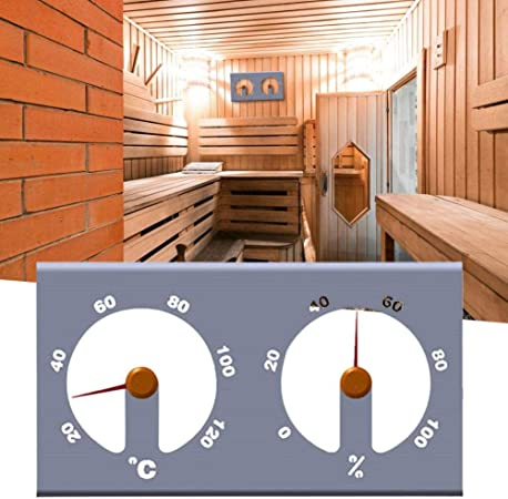 2 in 1 Wooden Sauna Thermometer Hygrometer for Home Kitchen Sauna Accessory