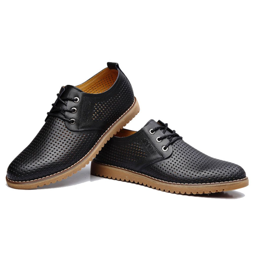 OEMPD Breathable Sommer Herren Business Casual Schuhe Breathable OEMPD Sandalen Hohl Schuhe schwarz e2dab0