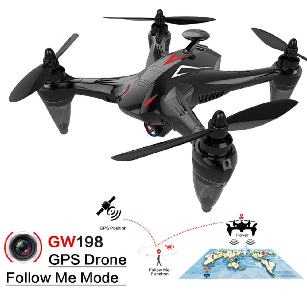 HUAXING Drohne mit Kamera 1080P, GPS Auto Return WiFi FPV Quadcopter mit 3D VR Live Video Camera FRTable Drones Kids HD Wide Angle Camera,1080P