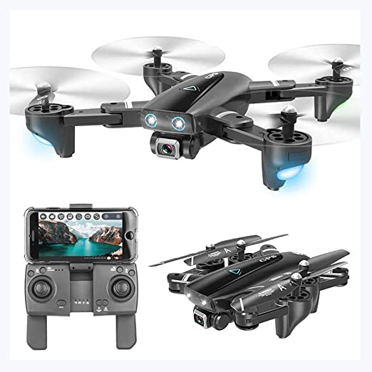 LEEPY Drone de Tiempo de Vuelo Largo Cámara Plegable de Gran ...