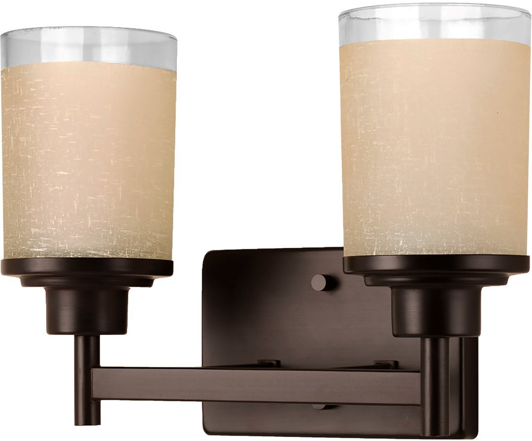 Luxury Contemporary Bathroom Vanity Light, Medium Size: 9.5''H x 13''W, with Transitional Style Elements, Olde Bronze Finish, UHP2011 from The Cupertino Collection by Urban Ambiance