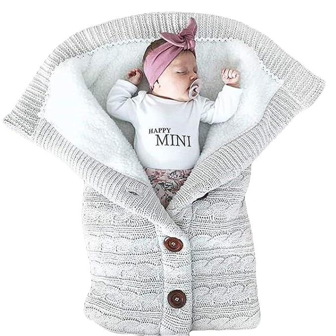 Baby Schlafsäcke Wickeldecke Pucksack Swaddle Babyschale Stricken