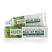 JASON Healthy Mouth Tartar Control Flouride-Free Toothpaste, Tee Tree Oil & Cinnamon, 4.2 oz. (Packaging May Vary)