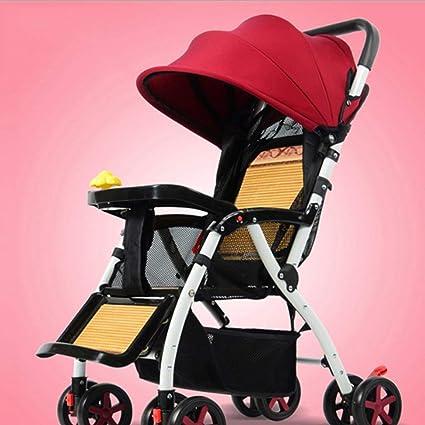 XYQ Carrito de bebé-Bebé Trolley Puede Sentarse/Acurrucarse ...