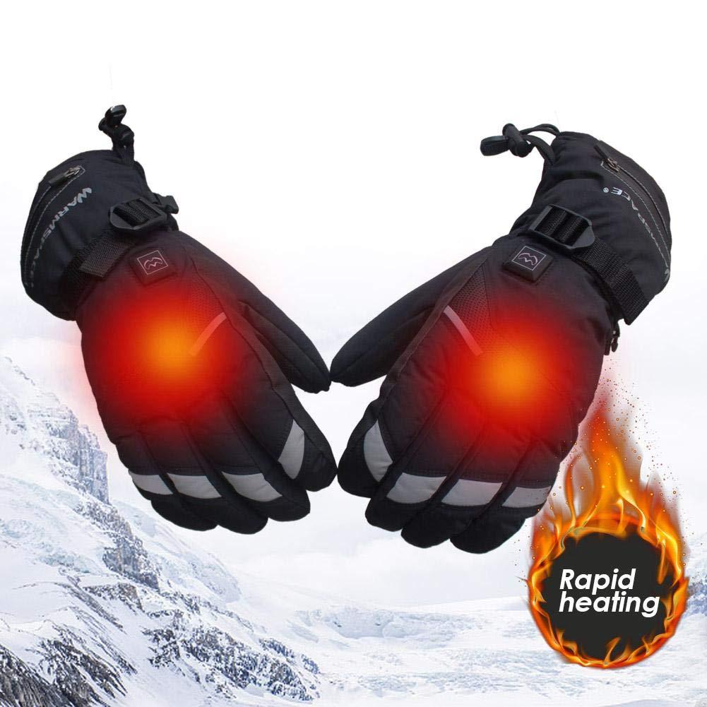 du Ski ou de lalpinisme Graceful Gants r/éfl/échissants avec Doigts tactiles Rechargeables pour Batterie au Lithium Rechargeable pour Hommes et Femmes Faisant du v/élo awhao-123 Gants Chauffants