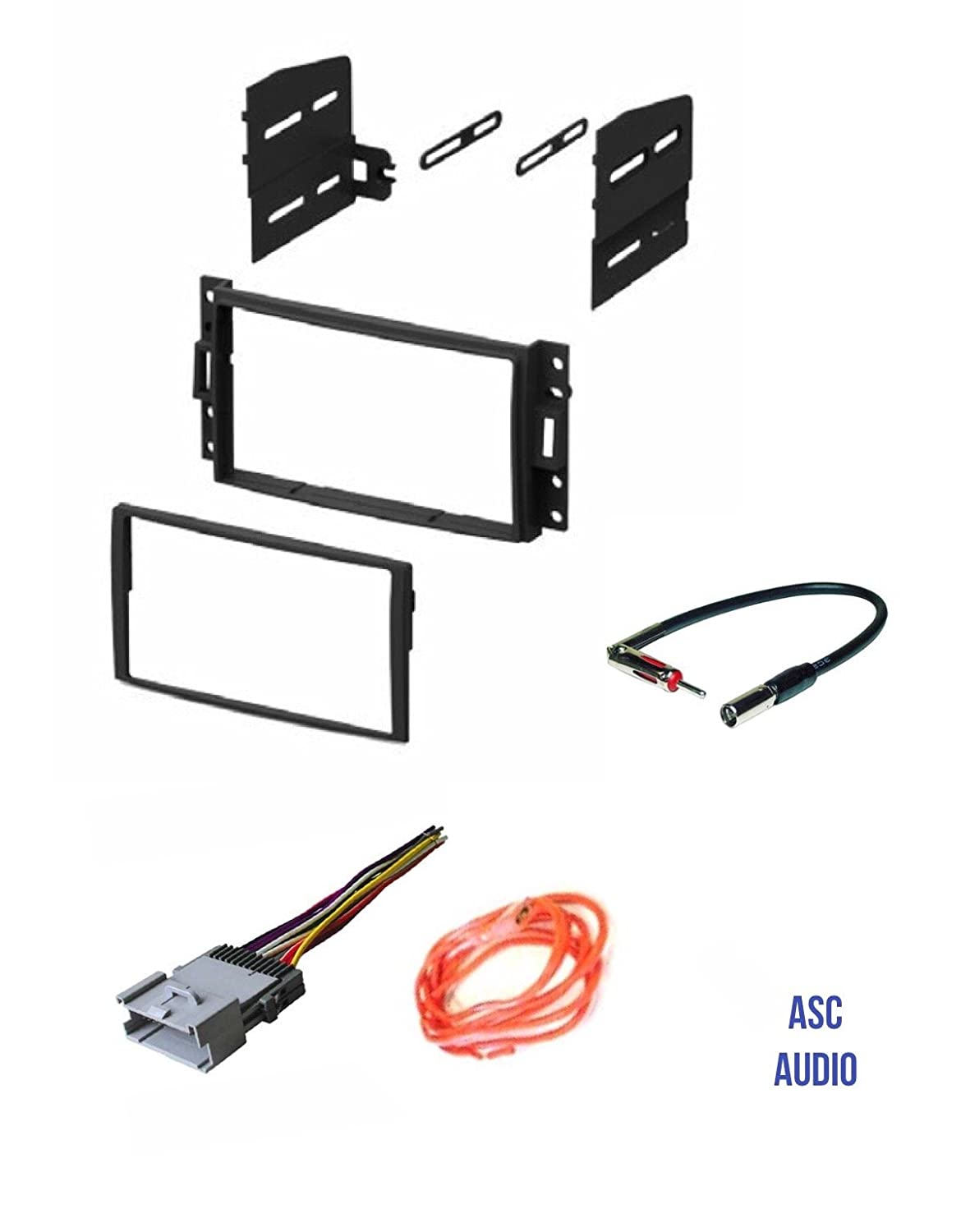 Asc Gm510 Double Din Car Radio Stereo Dash Kit Wire Harness And Tool Antenna Adapter For Some