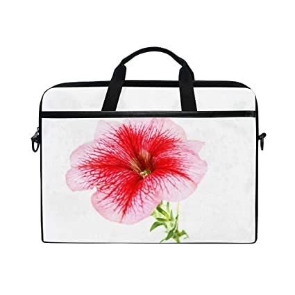 49ae20977529 Amazon.com: Laptop Computer Bag Shy Pink Flower Notebook Shoulder ...