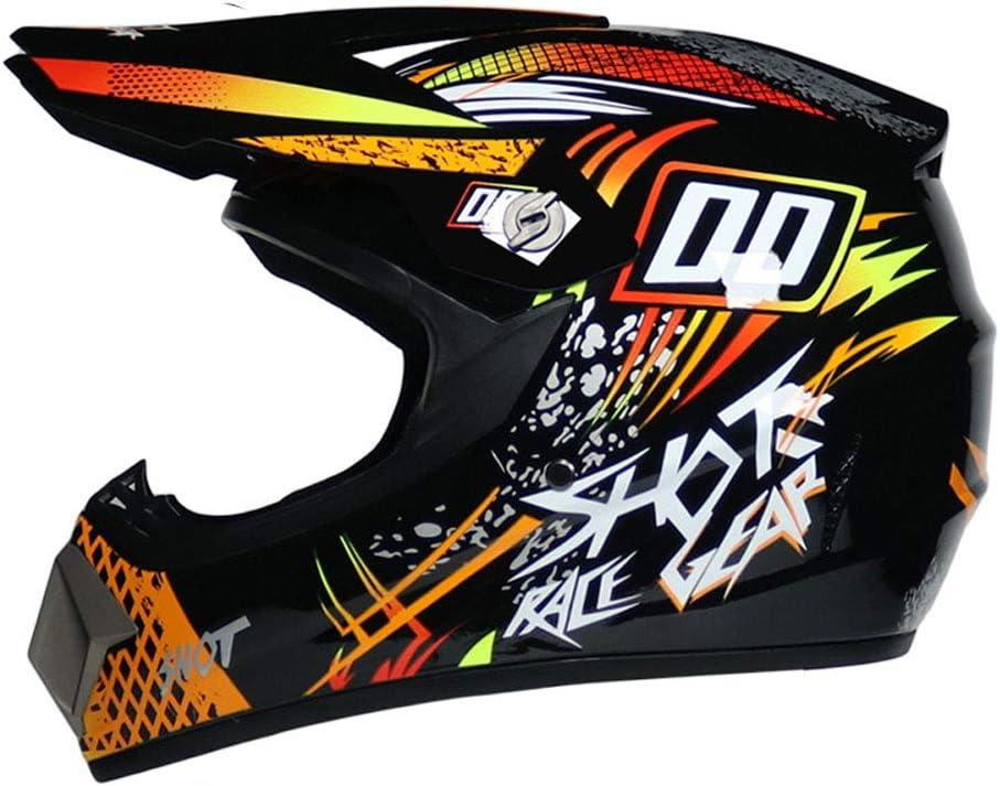 Casco de Motocross,Hombres Cascos de Moto Transpirables de Cara Completa Gorra de Moto de monta/ña para Carreras al Aire Libre Accesorios de Moto