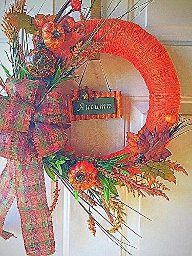 Yarn Wreath (Autumn Thanksgiving Yarn Wreath)