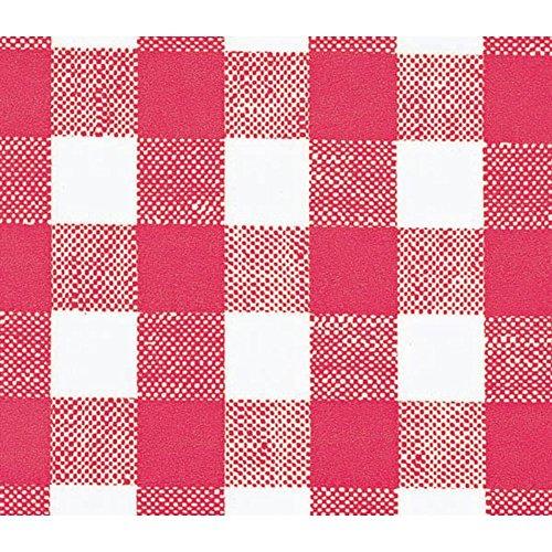 - Marko Red Check Vinyl Tablecloth - 53