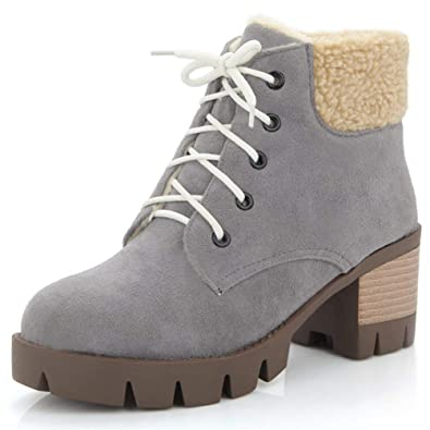 Bottes Talon Femme Plateforme Carré Boots Chaussure Mode T5clK1uJ3F