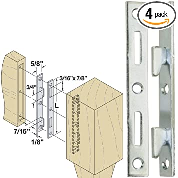 Woodtek 160550, Hardware, Furniture, Bed Hardware, 5u0026quot; Bed Rail  Fasteners Clear