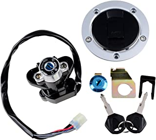 For Suzuki 03-08 SV 1000S 04 05 GSXR600/750 Ignition Switch Bike Seat Lock Key Fuel Gas Petrol Tank Cap Set