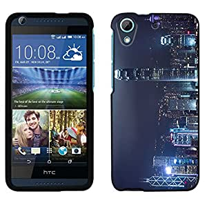 HTC Desire 626 Case, Snap On Cover by Trek Hong Kong at Night Case