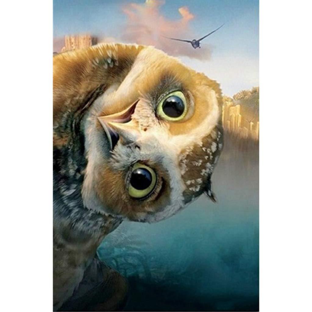 veyikdg 30x40cm Hibou Tigre Oiseau Papillon Animal Motif Art Artisanat Salon Chambre D/écor /À La Maison Broderie Peintures Strass Coll/é DIY Point De Croix 5D Peinture De Diamants A