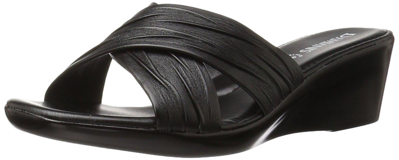 ITALIAN Shoemakers Women's 168m Wedge Sandal, Black, 7 M US